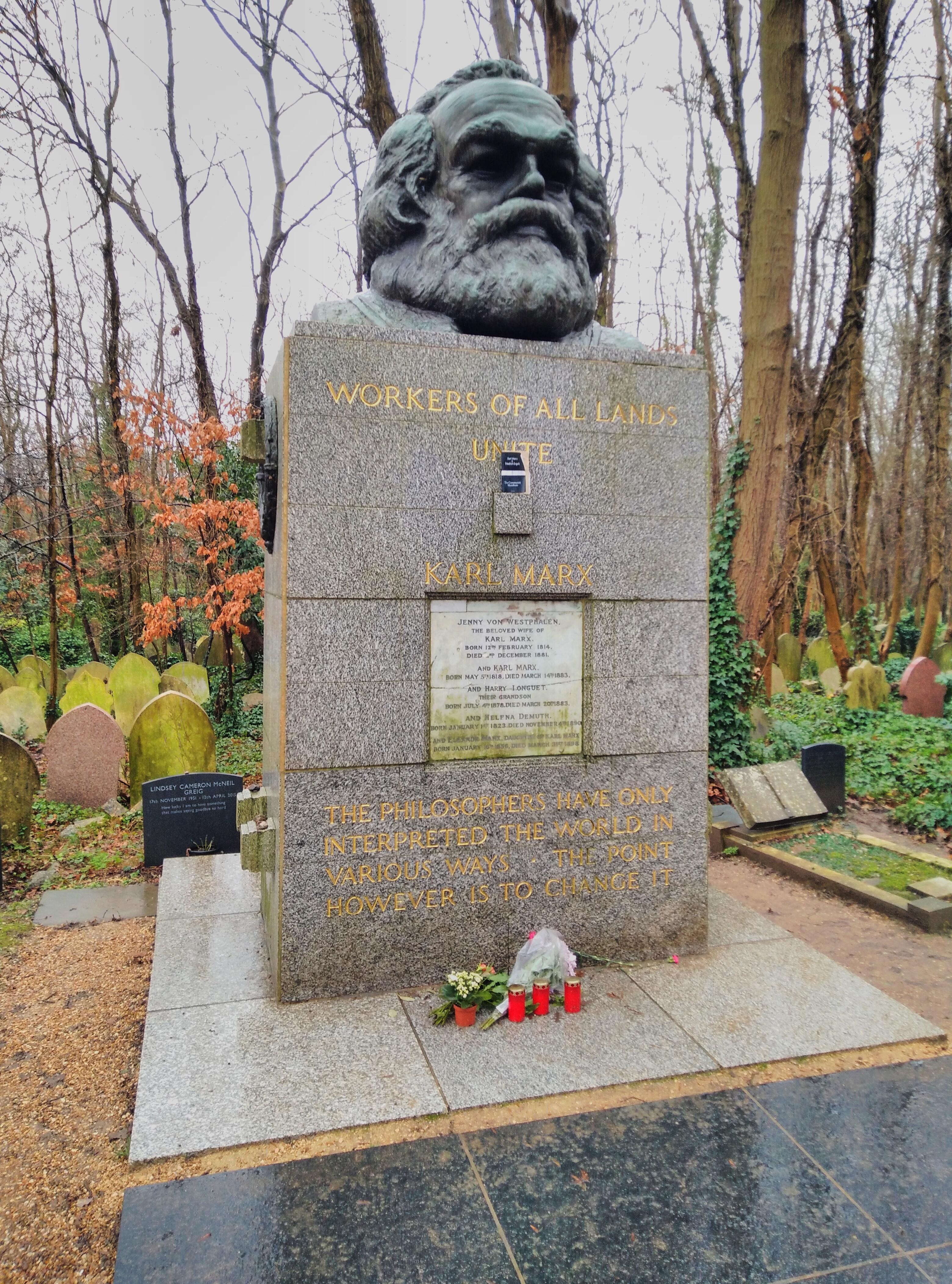 馬克思墓碑像