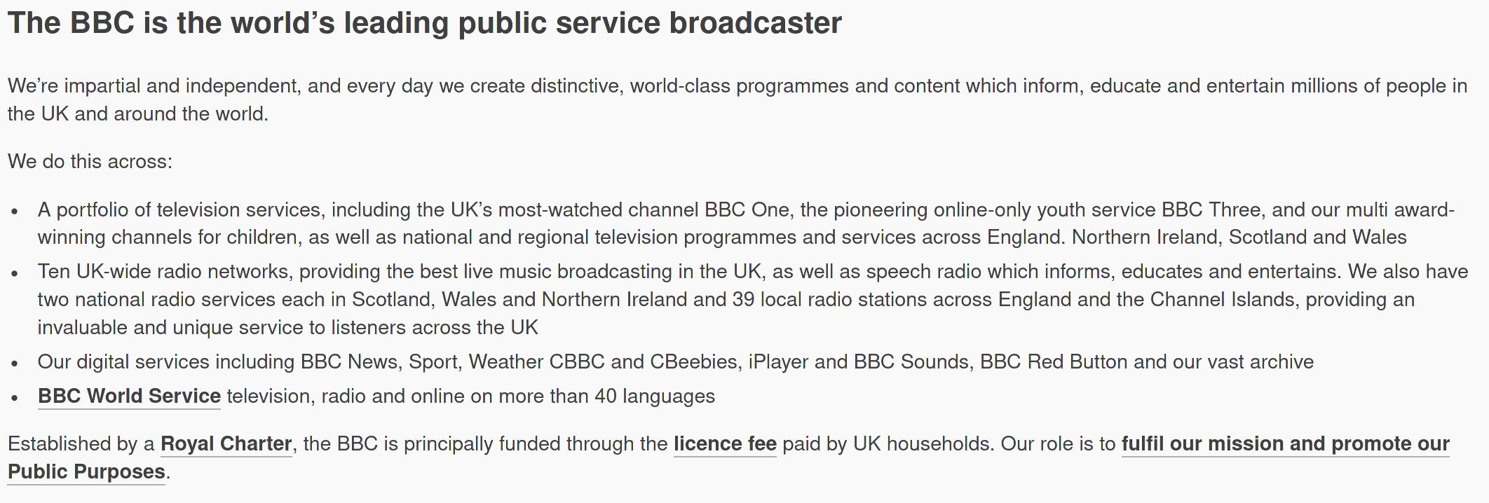 BBC information, part 1
