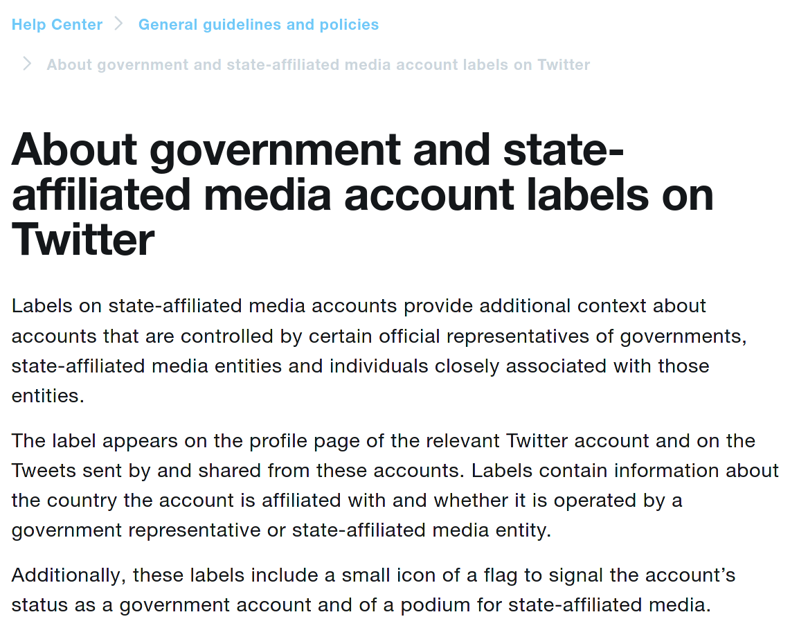 twitter state affliated policy, part 1