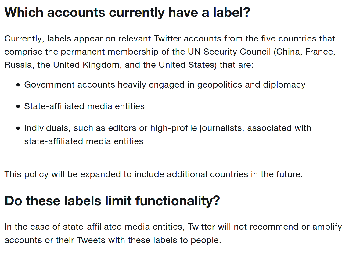 twitter state affliated policy, part 2